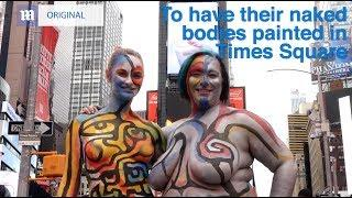 We painted two naked women with VERY different bodies...but how did people react?