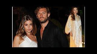 Alex Pettyfer cosies up to new girlfriend Gabriela Giovanardi as he joins Elizabeth Olsen at star...
