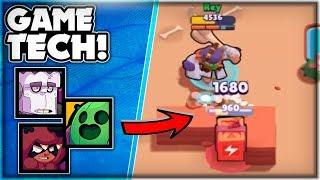 BRAWL STARS TECH! - Hitting Through Walls, Bush Vision & Footprints! - Advanced Mechanics!
