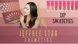 JEFFREE STAR MINI NUDE LIP BUNDLE LIP SWATCHES