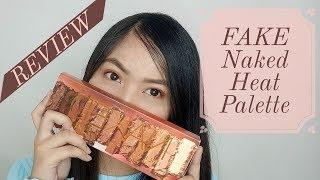 FAKE NAKED HEAT PALETTE REVIEW  ( Divisoria/ Shopee  ) - PHILIPPINES