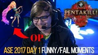 All-Star 2017 Day 1 - Funny/Fail Moments & Plays Compilation - League of Legends