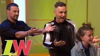 Robbie Williams and Paddy McGuinness Utterly Fail at Styling Andrea's Daughter's Hair   Loose Women