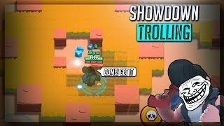 BULL SHOWDOWN TROLLING AT 0 TROPHIES! #2 FOF - Brawl Stars Gameplay