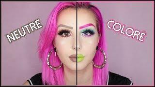 MAQUILLAGE NEUTRE VS COLORÉ | Nude vs Colors Challenge