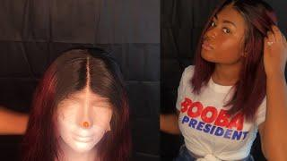 Watch me style & install| lace frontal ombré wig| Ft Afsisterwig | Life with Christi