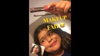 Makeup tutorial FAIL!!
