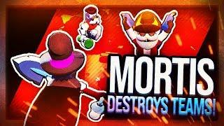 DESTROYING TEAMERS WITH MORTIS! - Brawl Stars