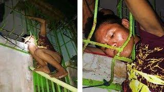 Bobong magnanakaw EPIC FAILS (Naipit ulo sa grills HAHAHA)