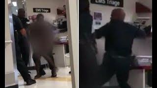 Video shows Detroit c op beating n aked woman in hospital