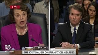 Senate committee shouldn't 'rush to judgement' on Kavanaugh, Feinstein says