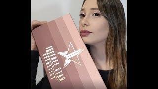HAUL Jeffree Star Mini Velour Liquid Lipstick Nudes Bundle y VOGUE pestañas de muñeca