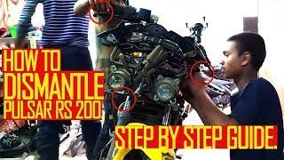 HOW TO DISMANTLE PULSAR RS 200 FAIRINGS. STEP BY STEP GUIDE.