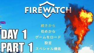 DAY 1 - NAKED GIRLS AND VANDALISM - Firewatch Gameplay Part 1