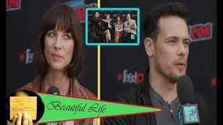 Outlander stars Caitriona Balfe & Sam take a trivia quiz on American history & fumbled hilariously