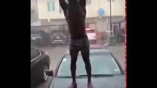 Rising Star Bath Naked in The Rain
