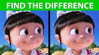 BET YOU CAN'T FIND THE DIFFERENCE! | 100% FAIL | Despicable Me 3 movie puzzle