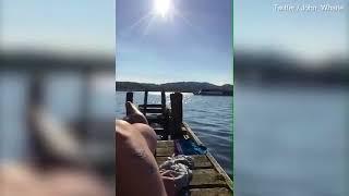 Bake off star John Whaite sunbathes naked as boat sails by