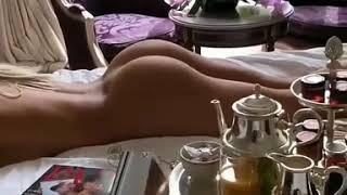 A really naked girl lay down