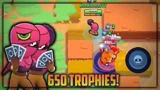 TARA 650 TROPHIES SHOWDOWN GAMEPLAY! TARA SHOWDOWN HIGH LEVEL GAMEPLAY - Brawl Stars Gameplay