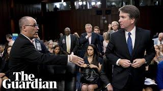 Brett Kavanaugh refuses to shake hand of shooting victim's father