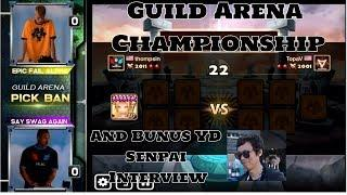 Summoners War Guild Arena Championship Finals Epic Fail Alpha Vs Say Swag Again & YD Interview