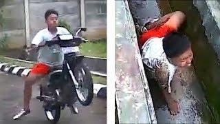 Mayayabang na rider EPIC FAILS (NAHULOG SA KANAL HAHAHA)