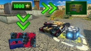 Tanki Online - 1000 Stars Earned Without Stars Booster - Getting Synth-Pop Paint!