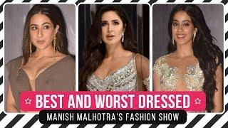 Katrina Kaif, Salman Khan, Janhvi Kapoor: Best and Worst Dressed from Manish Malhotra's show