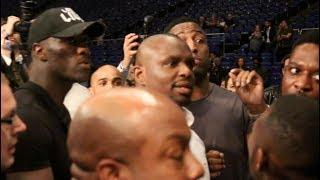BEEF! - DILLIAN WHYTE & DERECK CHISORA HEATED CLASH RINGSIDE AFTER BELLEW BEATING HAYE