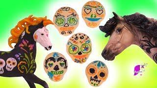 Sugar Skull Cookies ! Breyer Halloween Horses Nevermore + Bogeyman