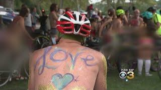 Hundreds Turn Out For 'Philly Naked Bike Ride'