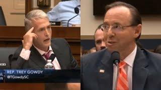 """Lie and You Go To Jail"" Trey Gowdy BLAST Rod Rosenstein before Congress"