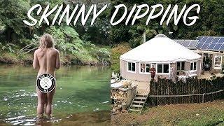 NAKED SWIMMING AT AN OFF GRID YURTSTEAD   Bus Life NZ Family Vlog   Ep. 138
