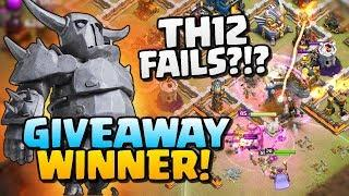 PEKKA GIVEAWAY WINNER and Failed Attacks Analysed in Clash of Clans!