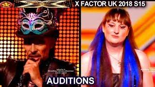 AUDITIONS Fails Ross Alexander In Costumes - Livia & The Elementals week 1 X Factor UK 2018