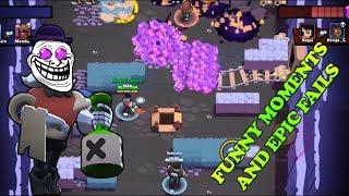 Funny Moments & Fails & Noob Moments   Brawl Stars Montage #1