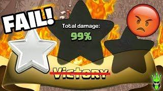THE MOST UNLUCKY RAID OF MY LIFE! - 99% 1 Star FAIL! - Clash of Clans