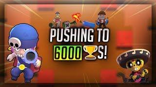 PUSHING TO 6000 TROPHIES! SHOWDOWN GAMEPLAY! - Brawl Stars Gameplay