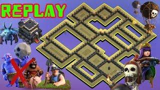 UNDEFEATED Best Th9 War Base 2018 Anti Bowler Anti 3 Star With Replay Anti Everything