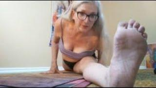 (LIVE STREAMED!) Mimosa BUZZED! Nearly NAKED NUDE NATURIST Yoga School