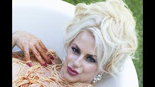 Former Disney star Emma Ridley makes glamour comeback stripping nude for spaghetti bath