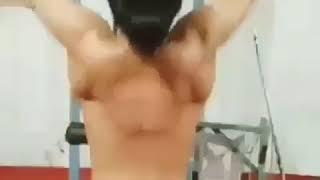 Thug Life Indian Girl Doing Half Naked Gym