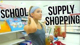 College School Supply Shopping! Working Out, Working, Productive Vlog!