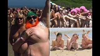 Guinness World Record for largest ever skinny dip shattered as 2,500 women str ip n aked in