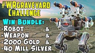 Win Robot + Weapon + Silver + Gold: War Robots WRgraveyard Challenge WR