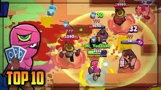 TOP 10 SHOWDOWN GAMES/PLAYS - INSANE WINS - Brawl Stars Montage #5