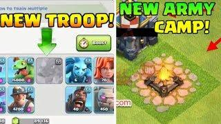 BRAND NEW TROOP LEAKED | NEW LEVEL ARMY CAMP LEAKED | COC TH12 UPDATE INFO