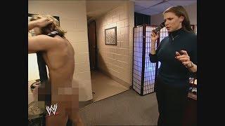 Stephanie McMahon & Naked Boy Backstage + Brock Lesnar & Hulk Hogan: SmackDown, Feb. 6, 2003