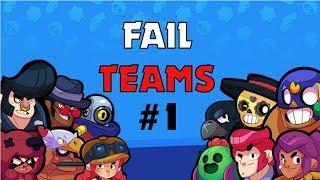Brawl Stars~Fail Teams #1 Teammates that doesn't push!